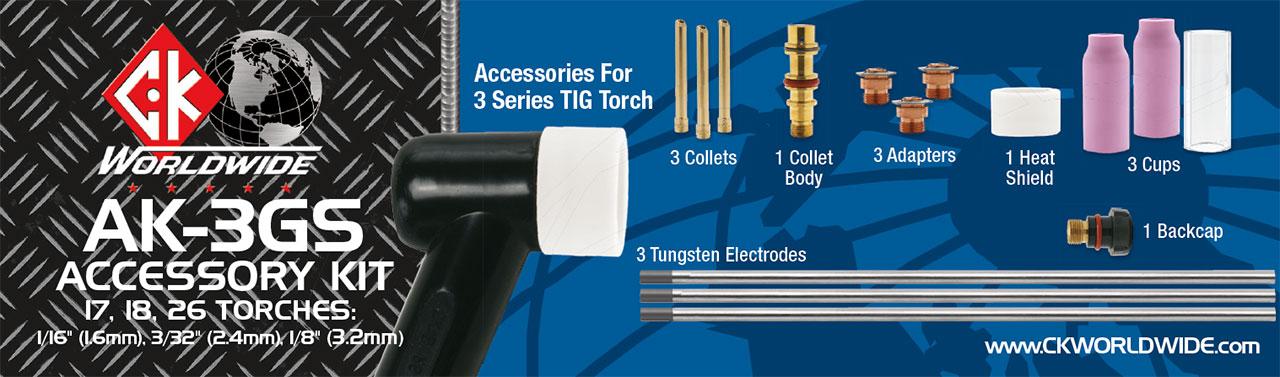 CK AK-4GS Accessory Kit 2 Series Gas Saver 1//16 3//32 1//8
